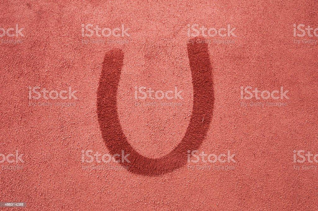 Letter U stock photo
