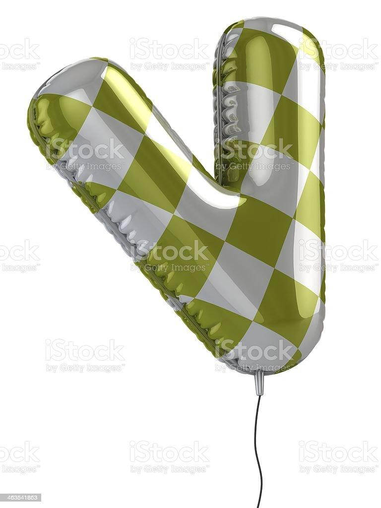 letter V balloon font stock photo