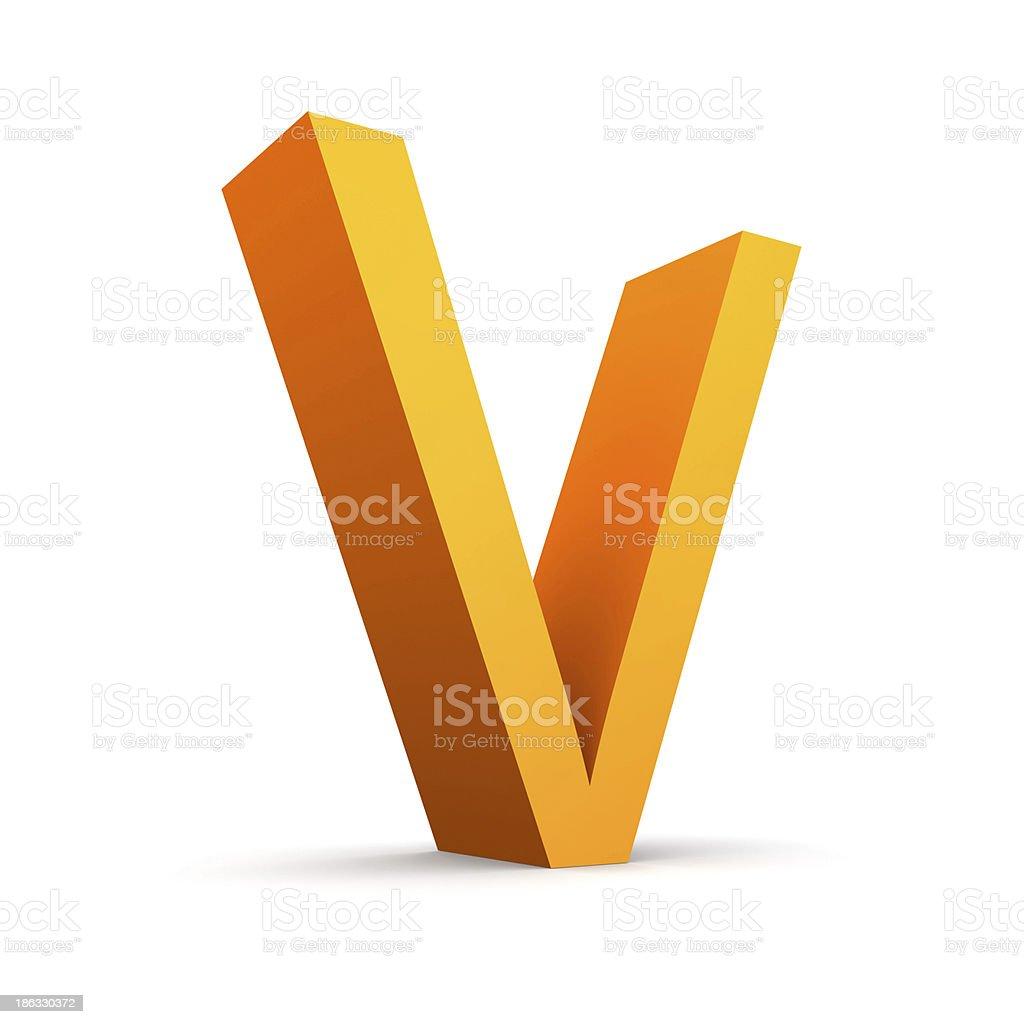 Letter V stock photo
