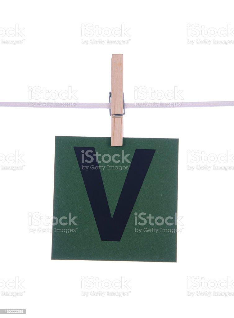 Letter V royalty-free stock photo