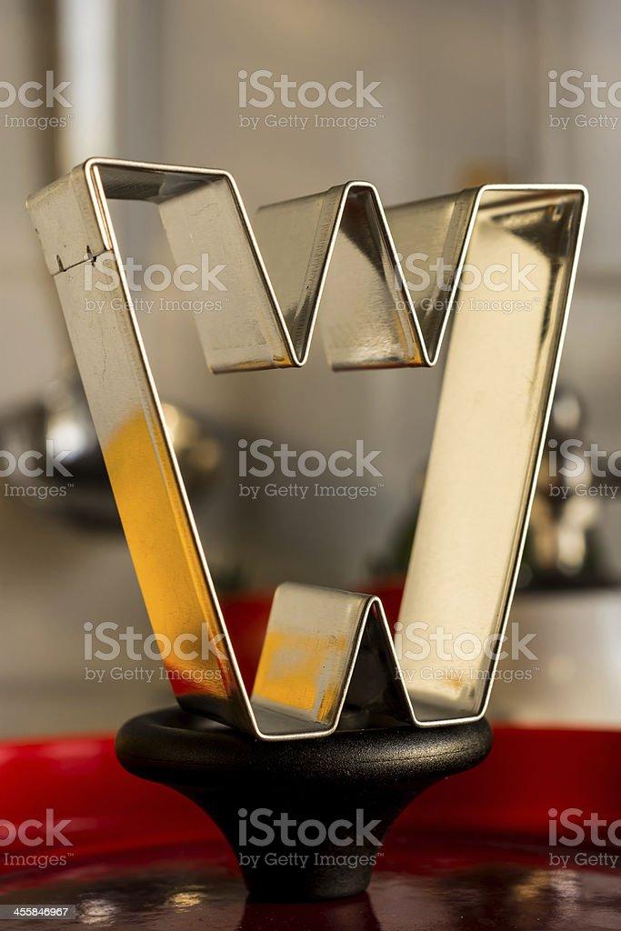 Letter W kitchen alphabet royalty-free stock photo