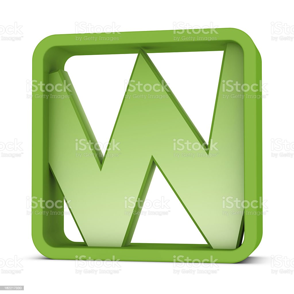 Letter W royalty-free stock photo