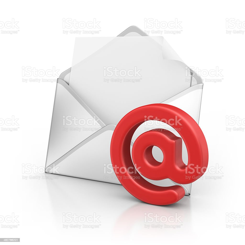 letter with at symbol stock photo