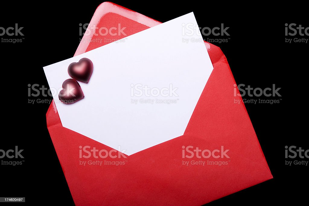 Letter with Copy Space stock photo