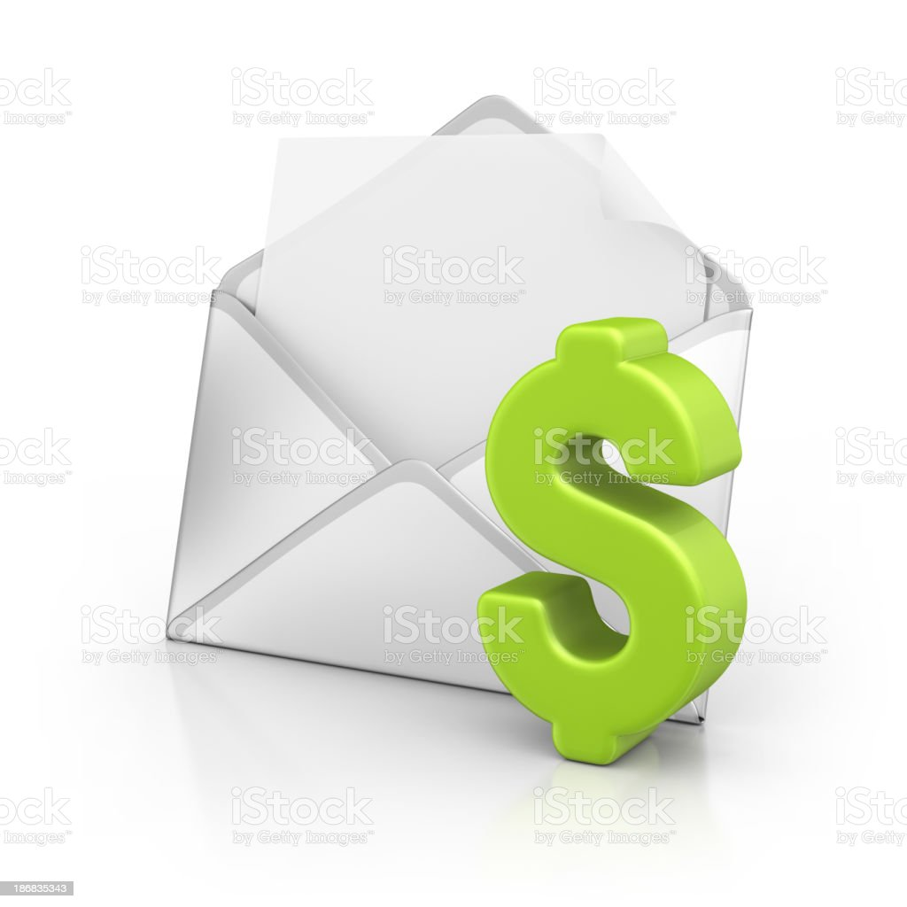 letter with dollar symbol royalty-free stock photo