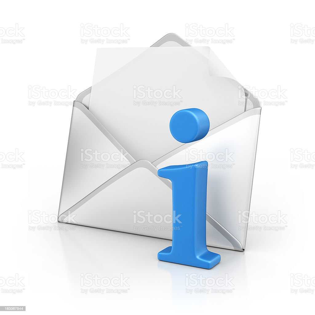 letter with info sign royalty-free stock photo