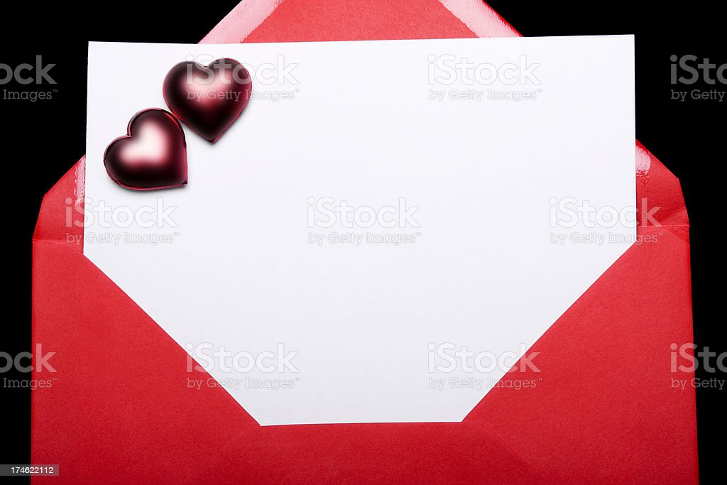 Letter with Red Envelope royalty-free stock photo