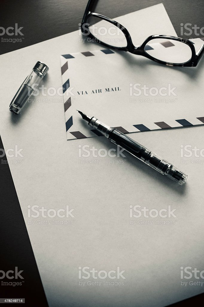 Letter Writing stock photo