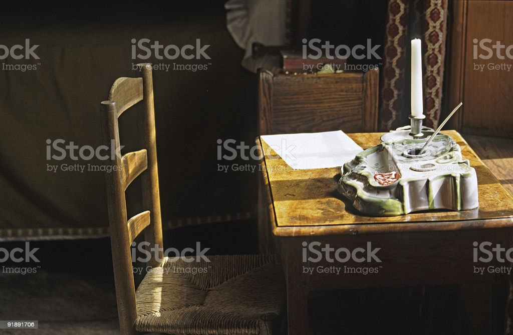 Letter Writing royalty-free stock photo