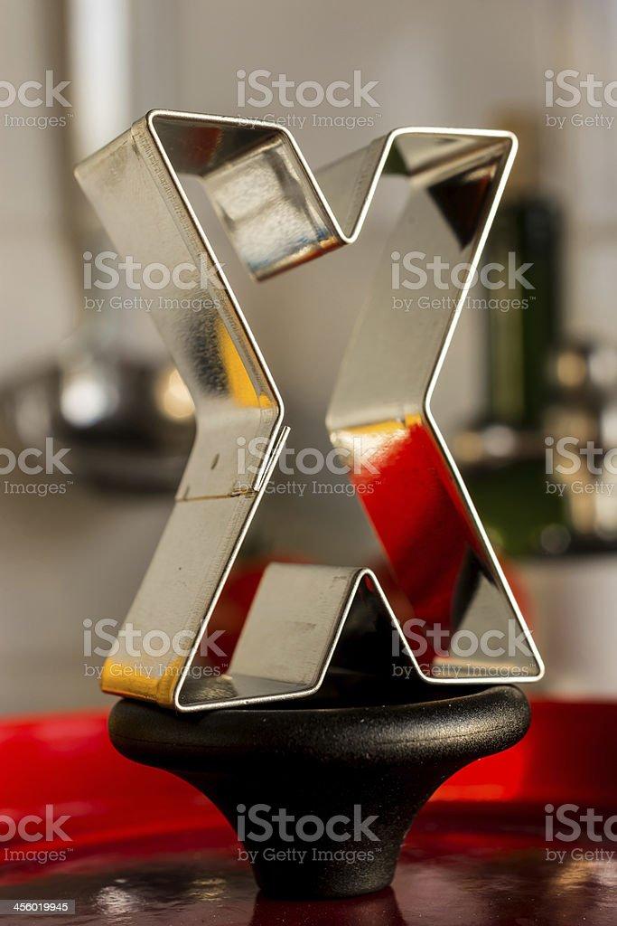 Letter X kitchen alphabet royalty-free stock photo