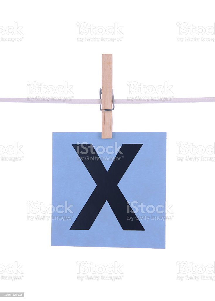 Letter X royalty-free stock photo