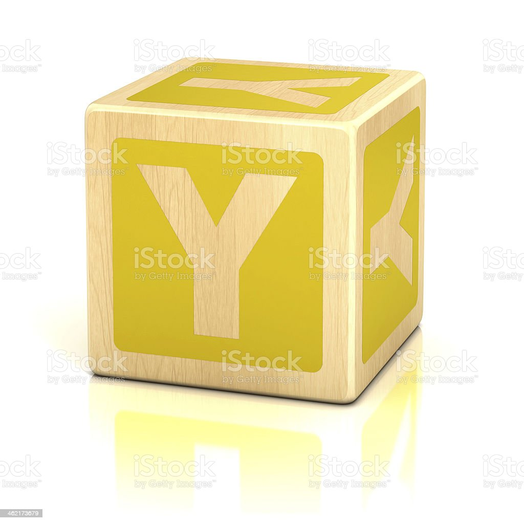 letter Y alphabet cubes font stock photo