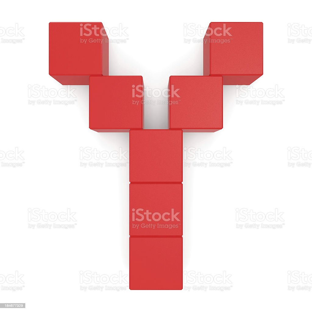 letter Y cubic red royalty-free stock photo