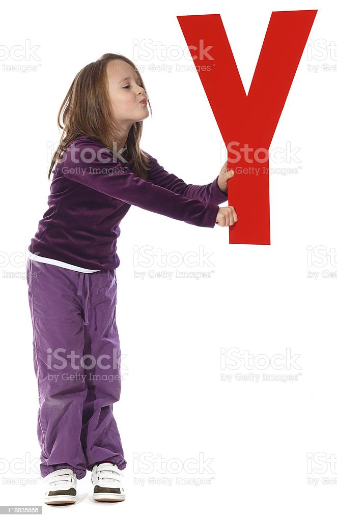 Letter 'Y' girl royalty-free stock photo