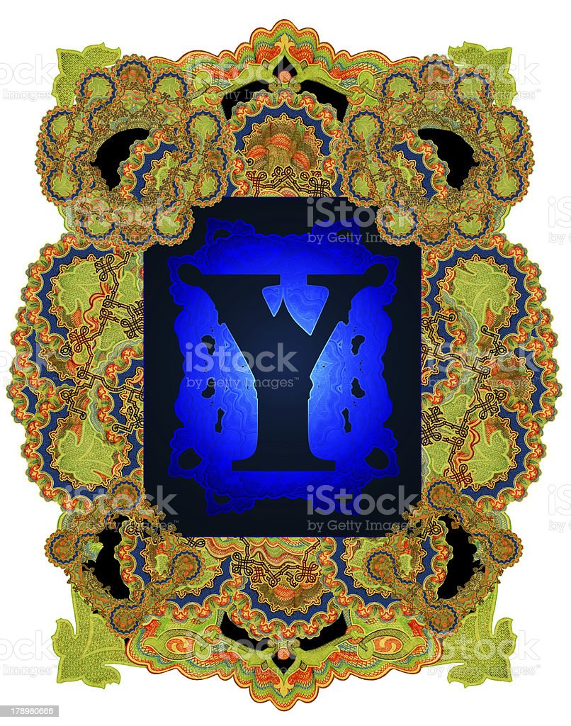 Letter Y. royalty-free stock photo