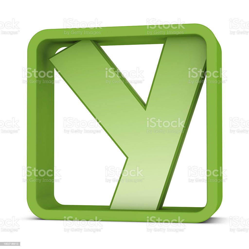 Letter Y royalty-free stock photo