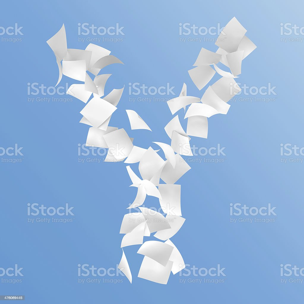 letter Y stock photo