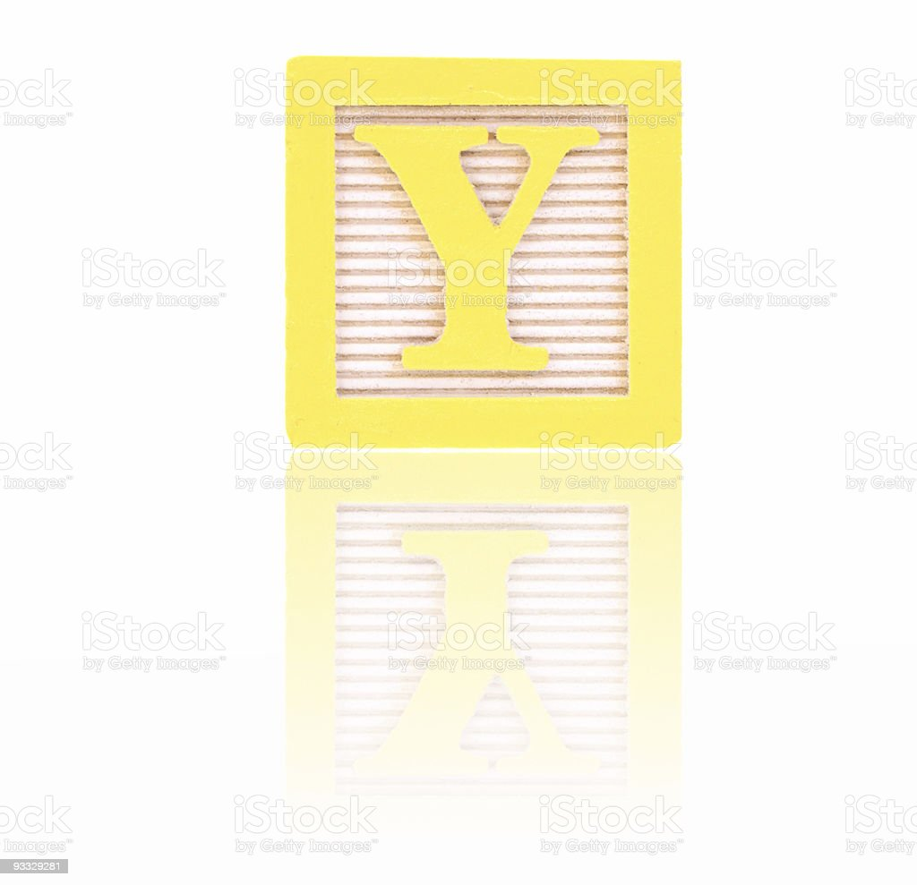 letter y - toy block series royalty-free stock photo