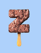 Letter Z. Chocolate Ice Cream Font Concept.