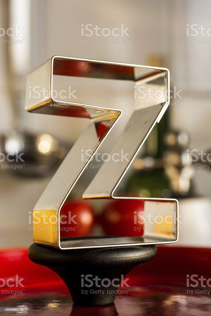 Letter Z kitchen alphabet royalty-free stock photo