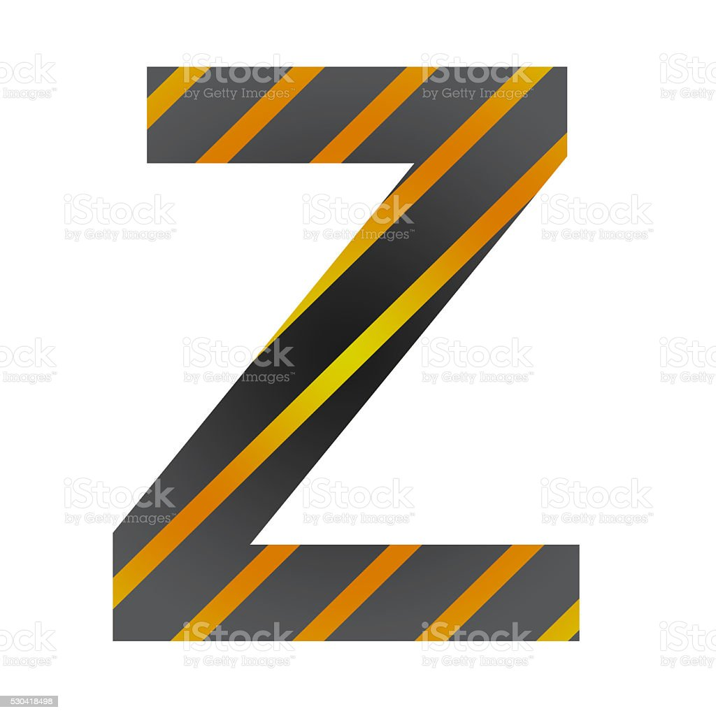 Letter Z on white stock photo