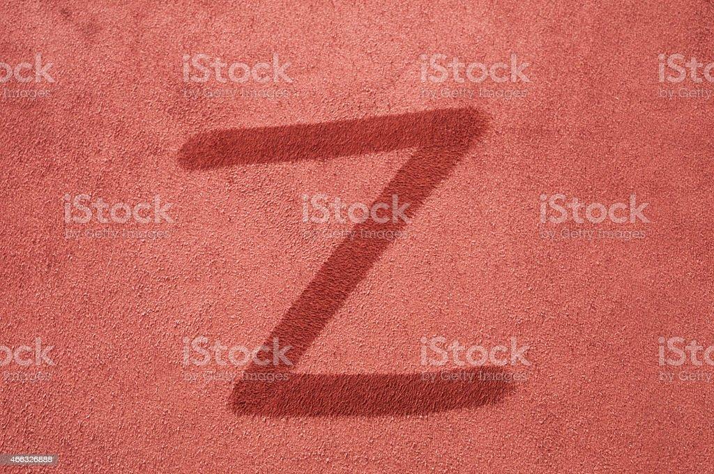 Letter Z stock photo