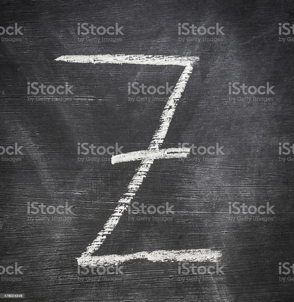 Letter Z. royalty-free stock photo