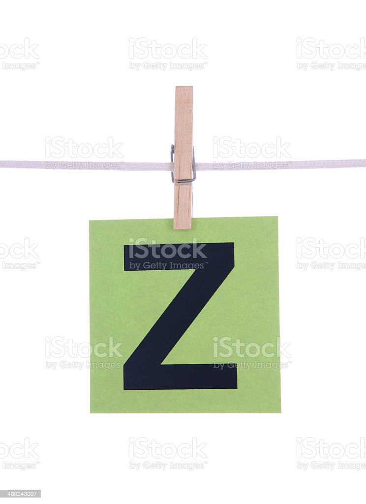 Letter Z royalty-free stock photo