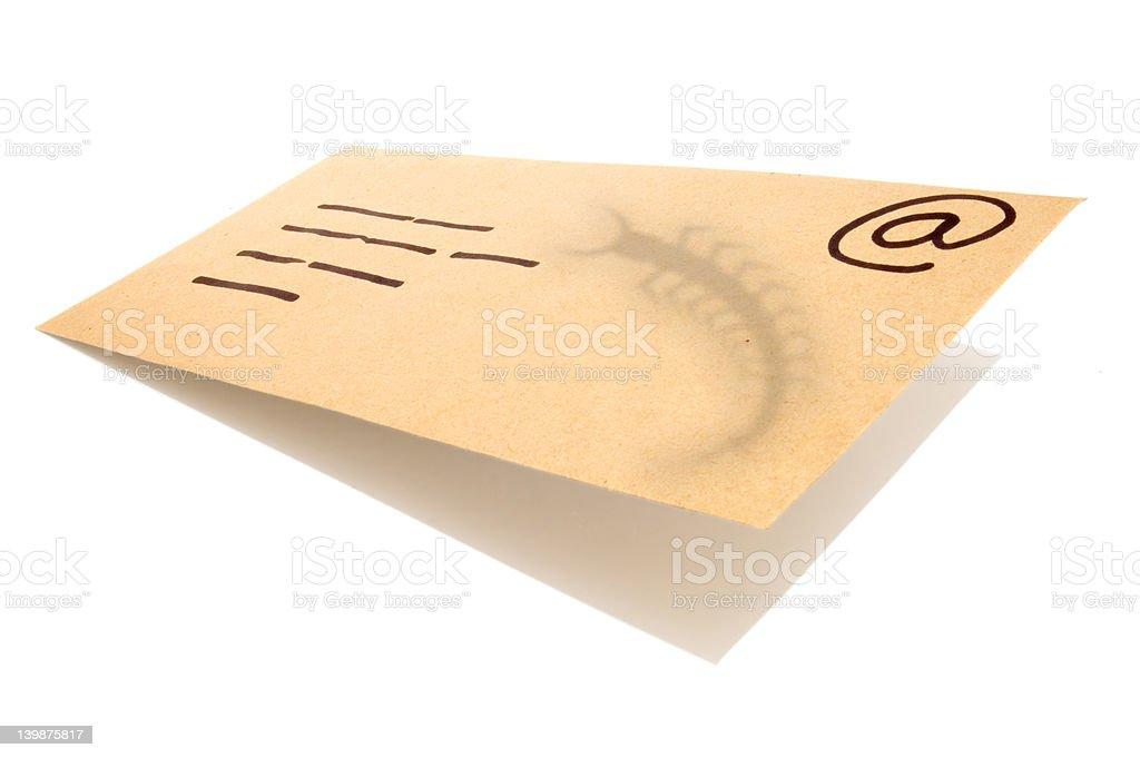 Letter_email_virus_4 stock photo