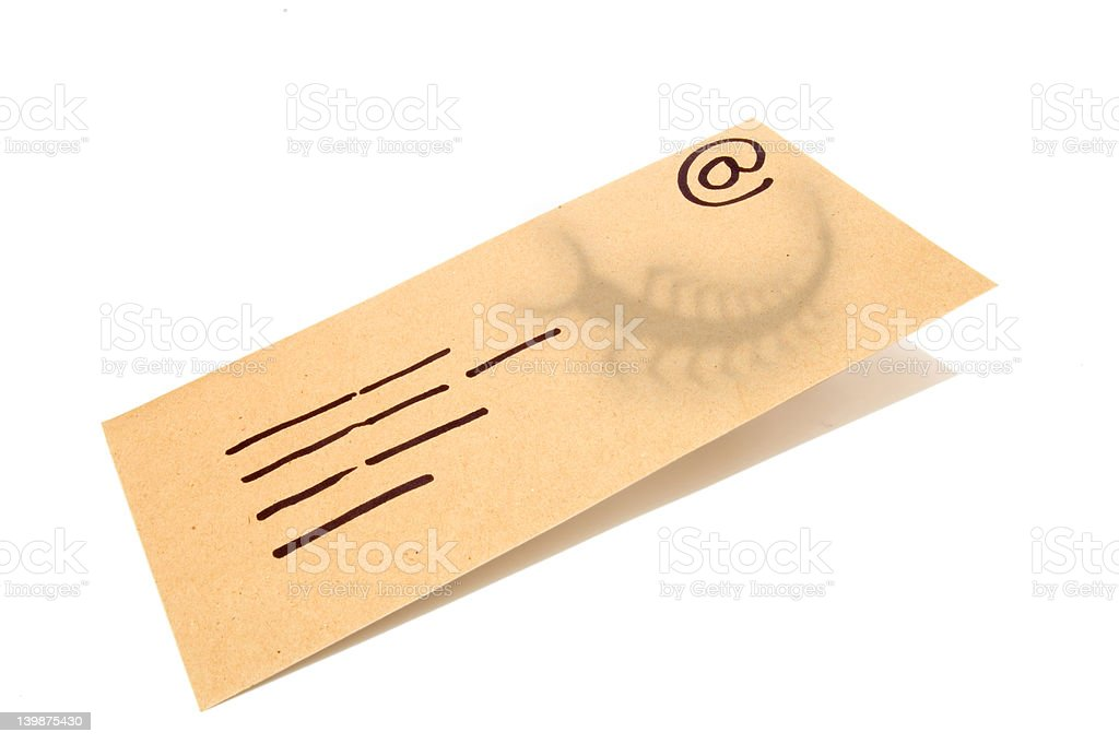 Letter_email_virus_5 stock photo