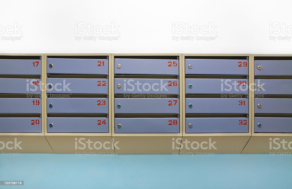 letterboxes stock photo