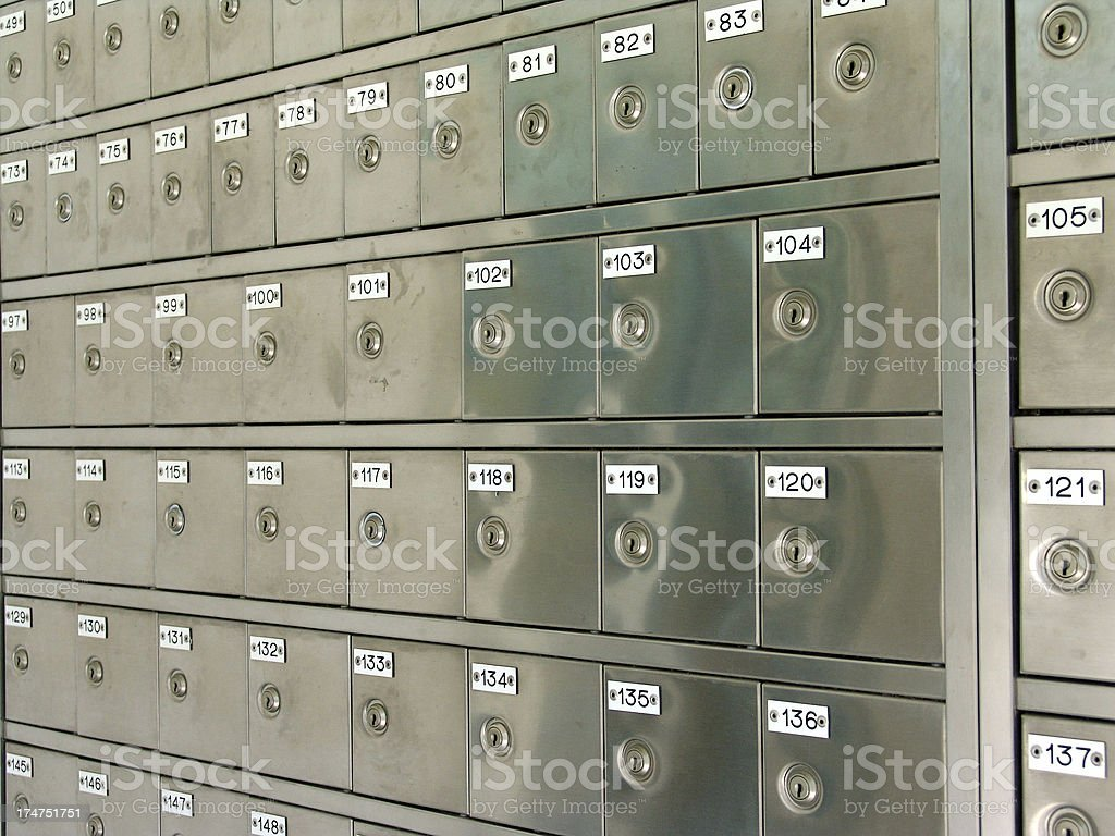 letter-boxes royalty-free stock photo
