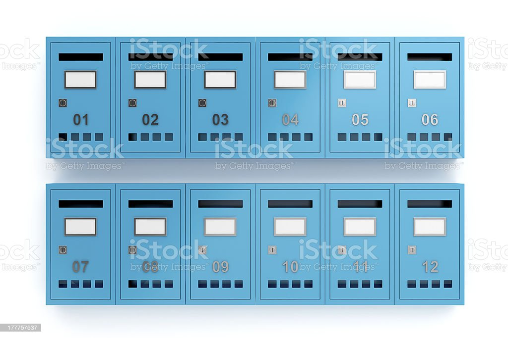 Letterboxes royalty-free stock photo