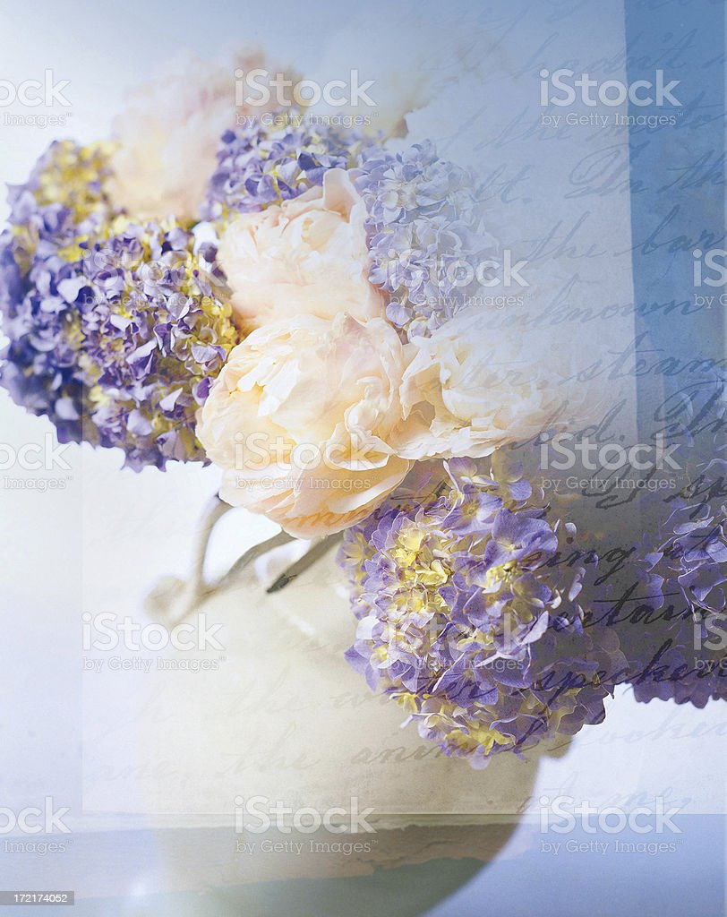 Lettered Flowers royalty-free stock photo