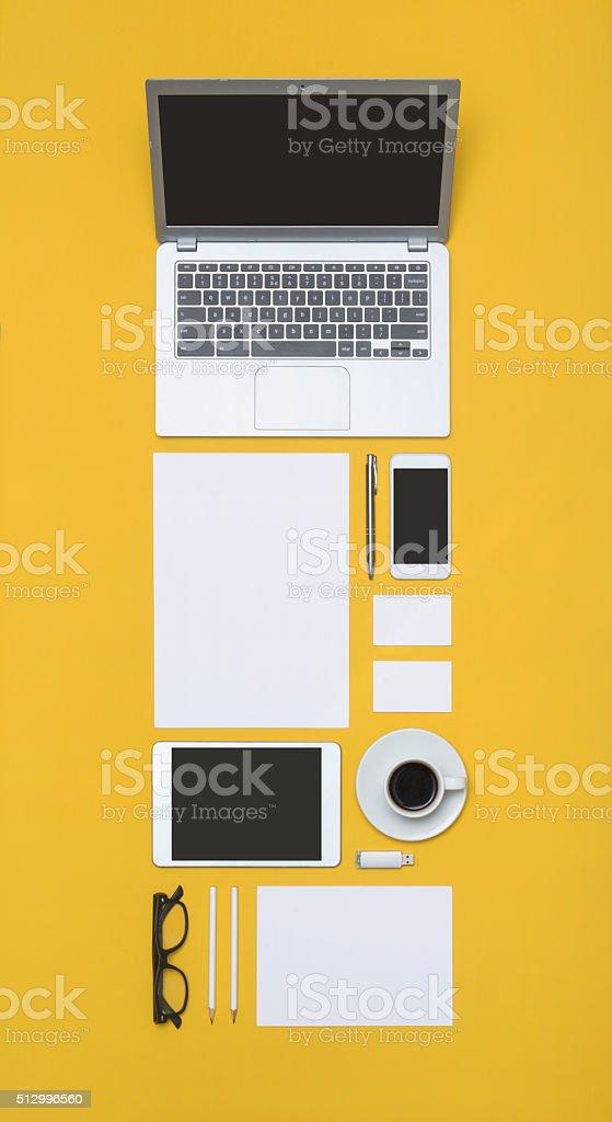 Letterhead and identity design template stock photo