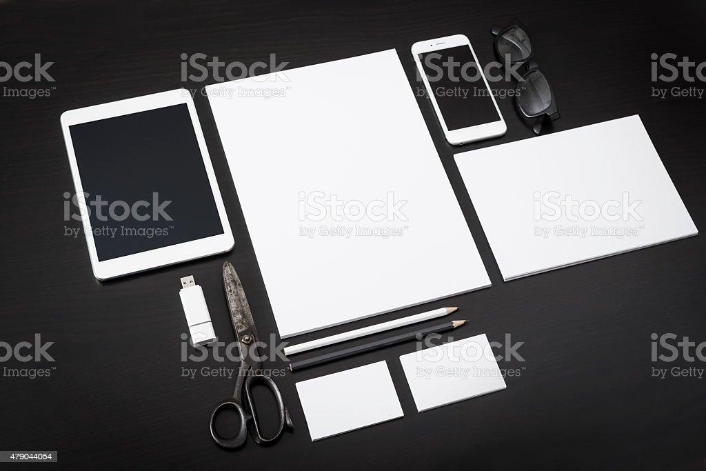 Letterhead design mockup stock photo