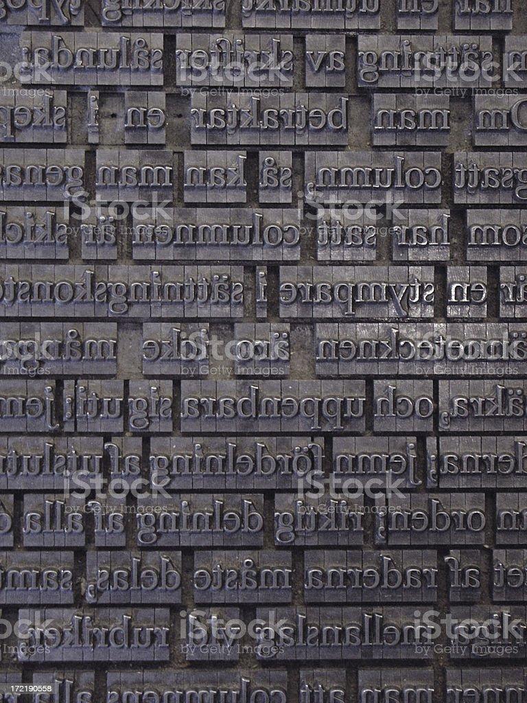letterpress 3 royalty-free stock photo