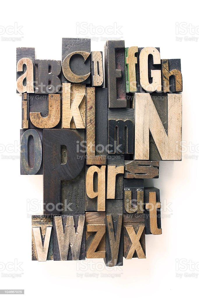 letterpress alphabet royalty-free stock photo