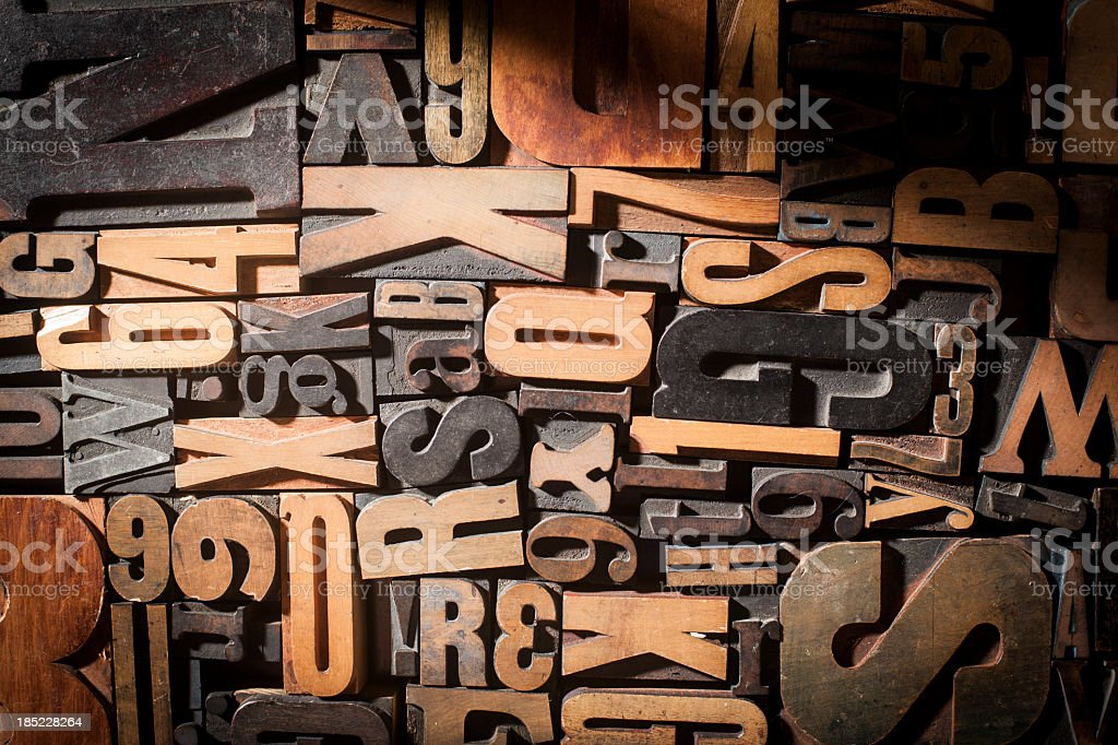Letterpress Blocks Background stock photo