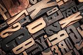 Letterpress Blocks Background