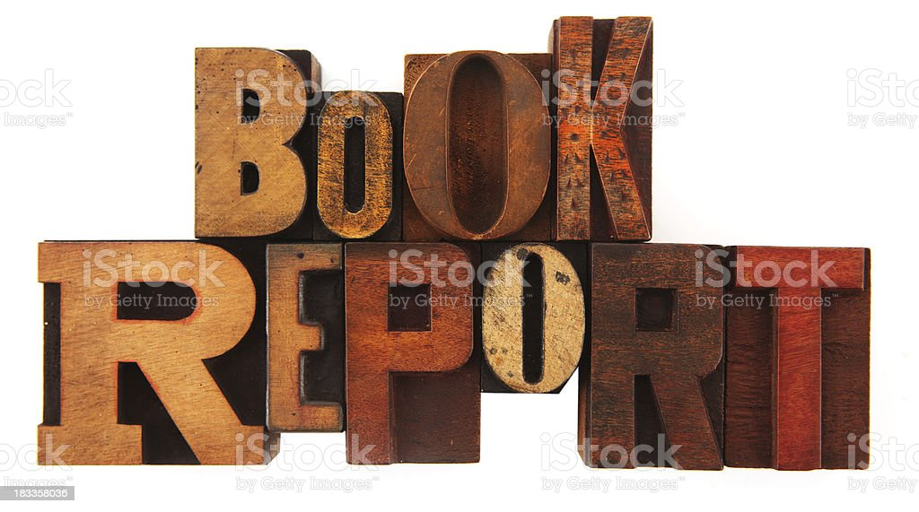 Letterpress - Book Report stock photo