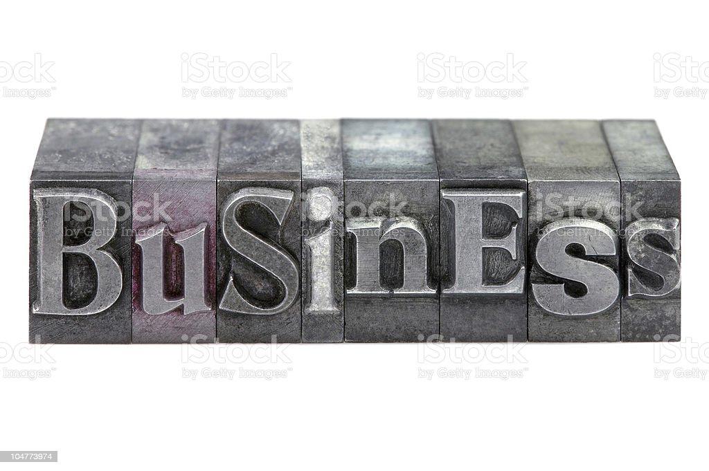 Letterpress Business royalty-free stock photo