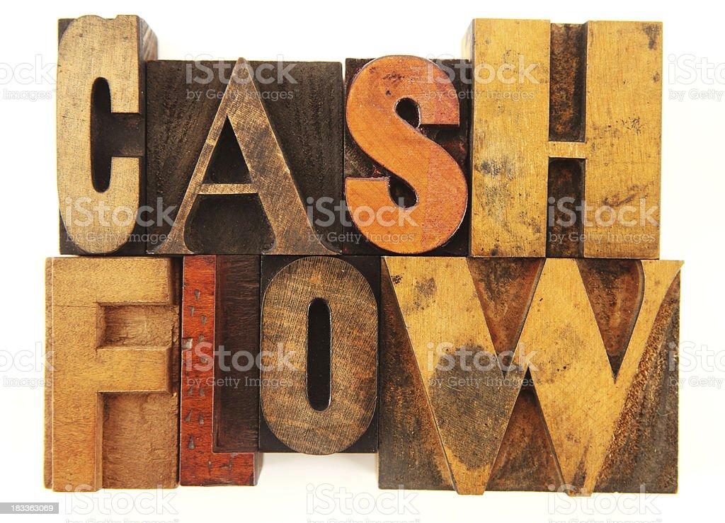 Letterpress - Cash Flow royalty-free stock photo