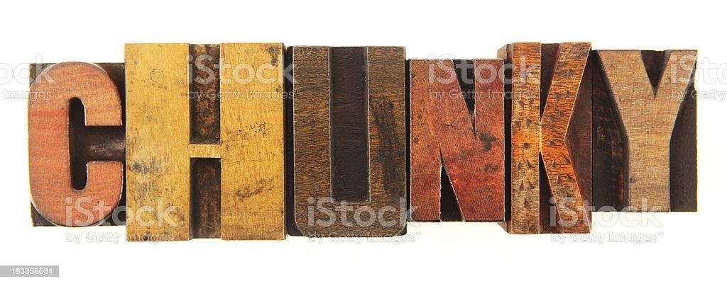 Letterpress - Chunky stock photo