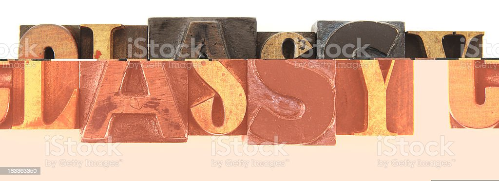 Letterpress - Classy stock photo