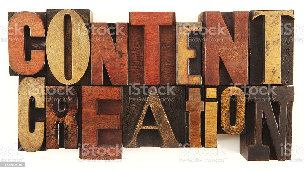Letterpress - Content Creation royalty-free stock photo