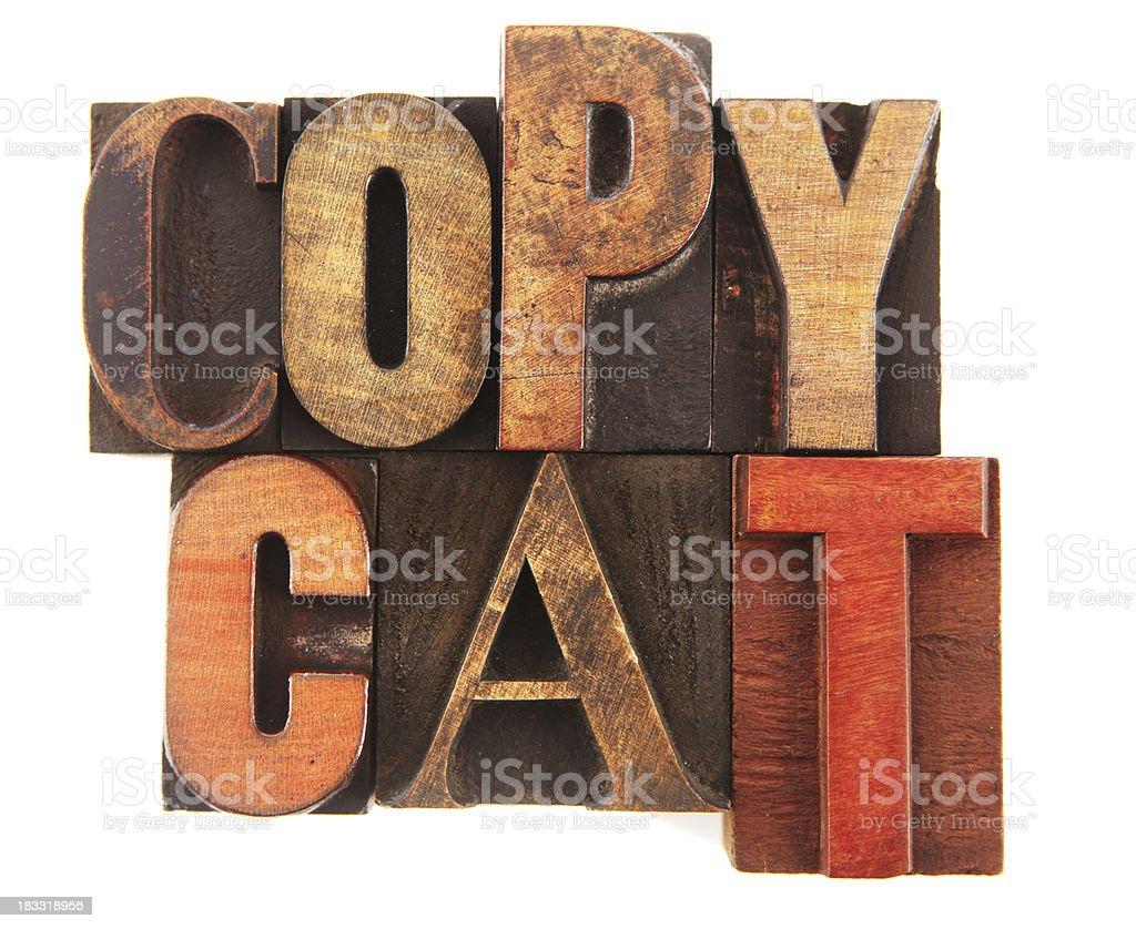 Letterpress - Copy Cat royalty-free stock photo
