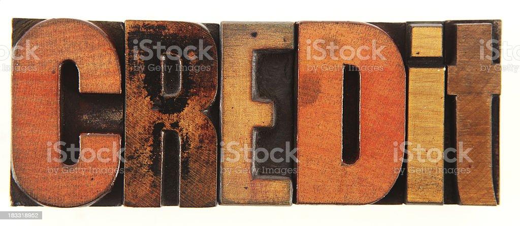 Letterpress - Credit stock photo