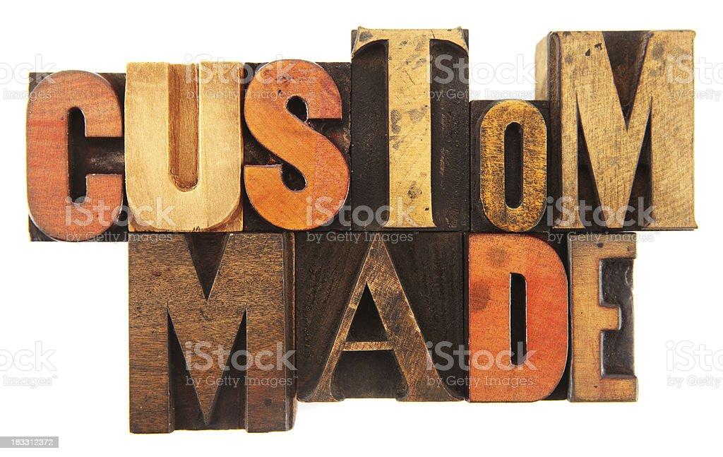Letterpress - Custom Made royalty-free stock photo