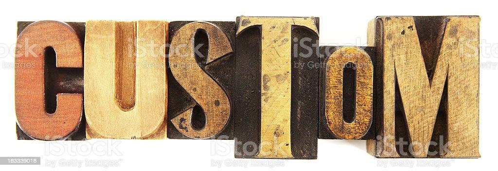 Letterpress - Custom royalty-free stock photo